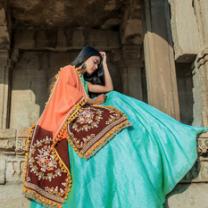 Art Silk Embroidery Girls Unstitched Lehenga Choli-476STB1795FDB